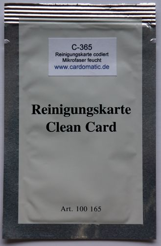 C-365 Encoded Cleaning Card